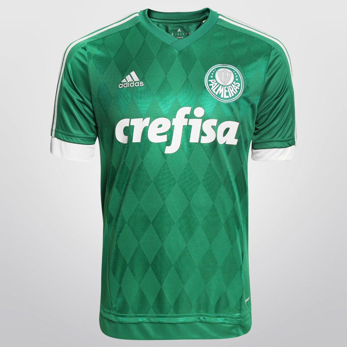 b433b06321143 Camisa Palmeiras I 15 16 s n° - Torcedor Adidas Masculina - Compre Agora