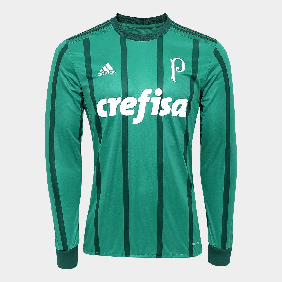 d8c295ef6956d Camisa Palmeiras I 17 18 Manga Longa s nº - Torcedor Adidas Masculina -  Compre Agora