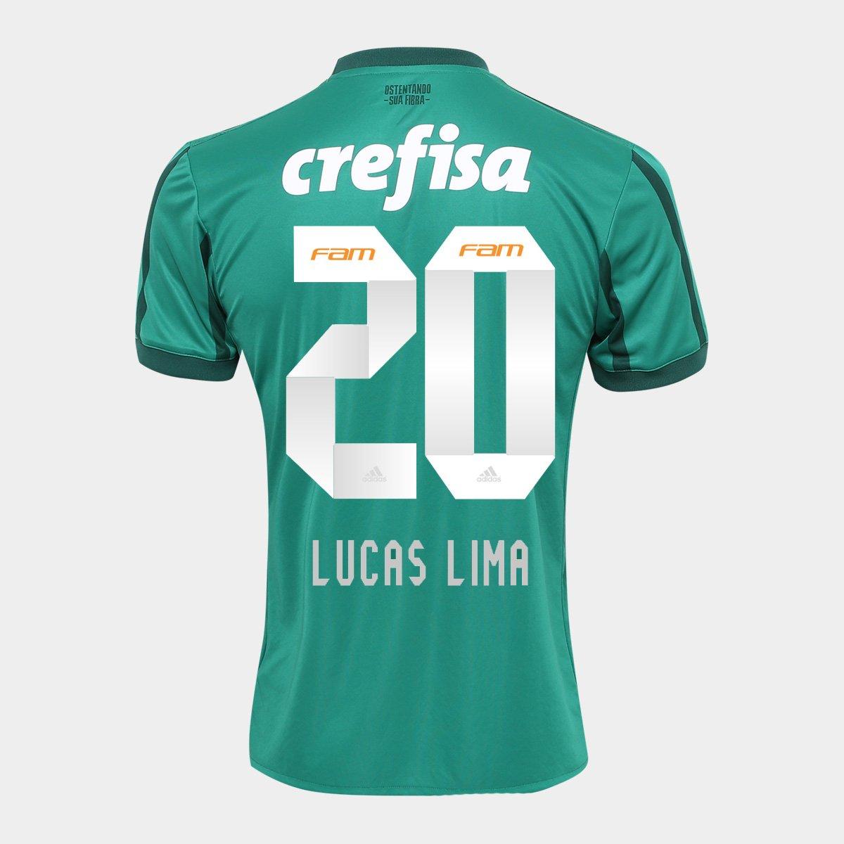 035e791dfa4ec Camisa Palmeiras I 17 18 nº 20 - Lucas Lima Adidas Masculina - Verde -  Compre Agora