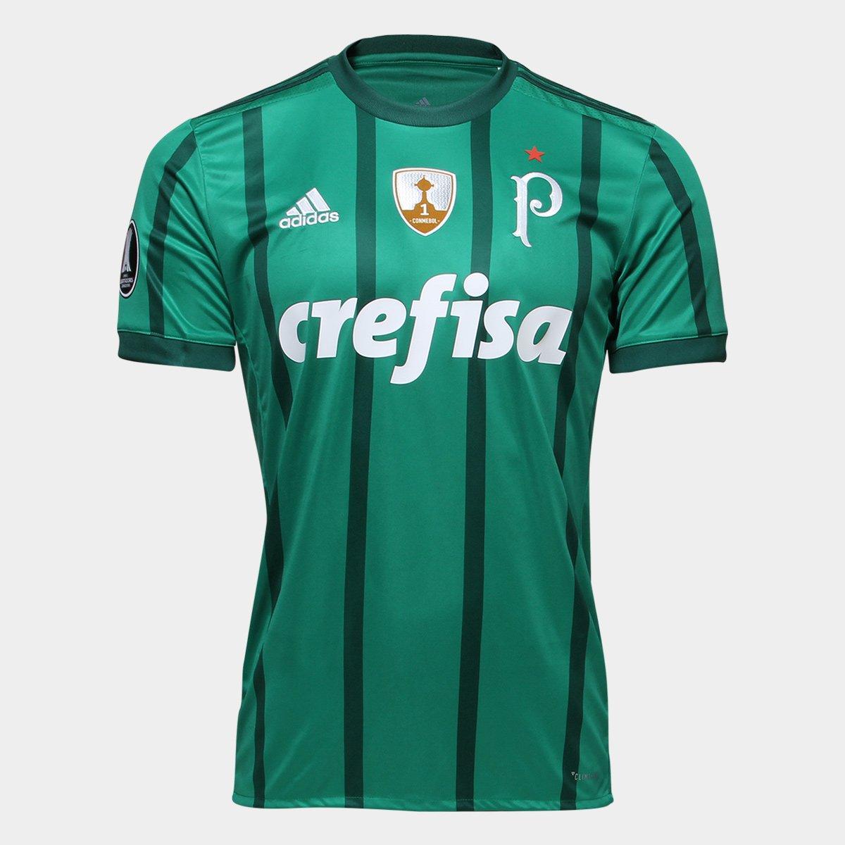 f504fc7cdf Camisa Palmeiras I 17 18 S Nº Patch Libertadores Torcedor Adidas Masculina  - Compre Agora