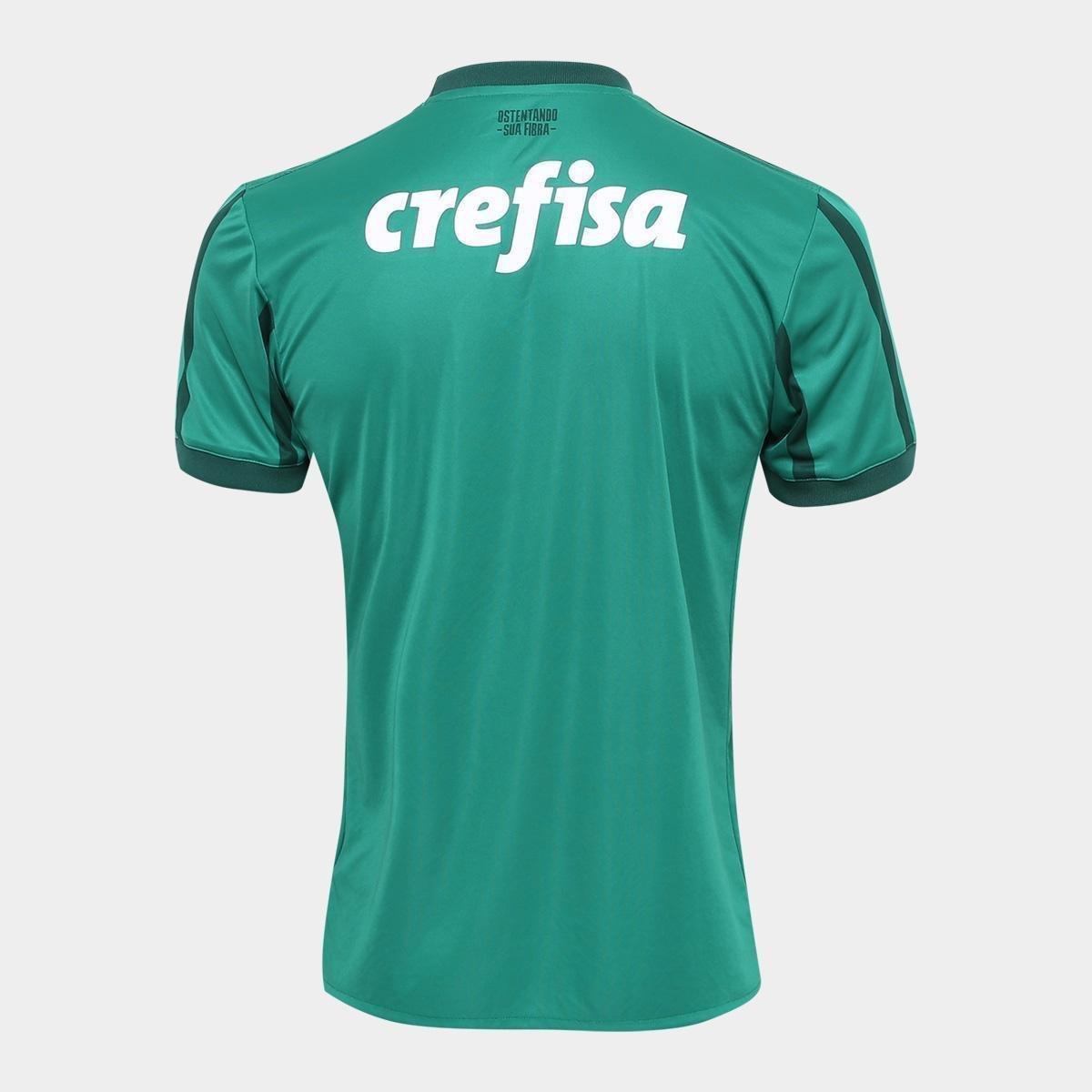 Camisa Palmeiras I 17 18 s nº Torcedor Adidas Masculina - Verde ... abfd6a45eabcb