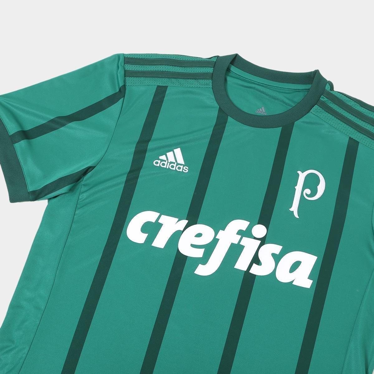 Camisa Palmeiras I 17 18 s nº Torcedor Adidas Masculina - Verde ... 9ae46146d831e