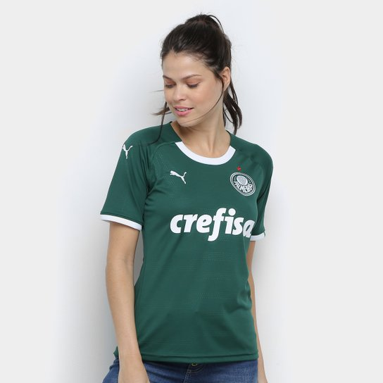 Camisa Palmeiras I 19/20 s/n° - Torcedor Puma Feminina - Verde