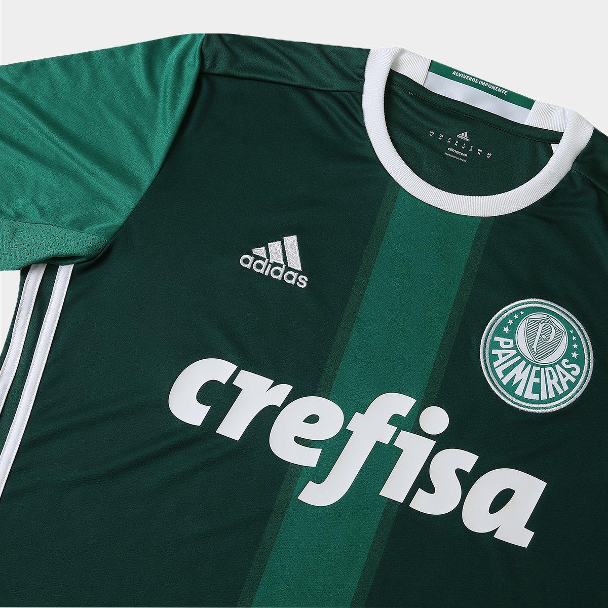 Camisa Palmeiras I 2016 s nº Torcedor Adidas Masculina - Compre ... 93151798f17b2