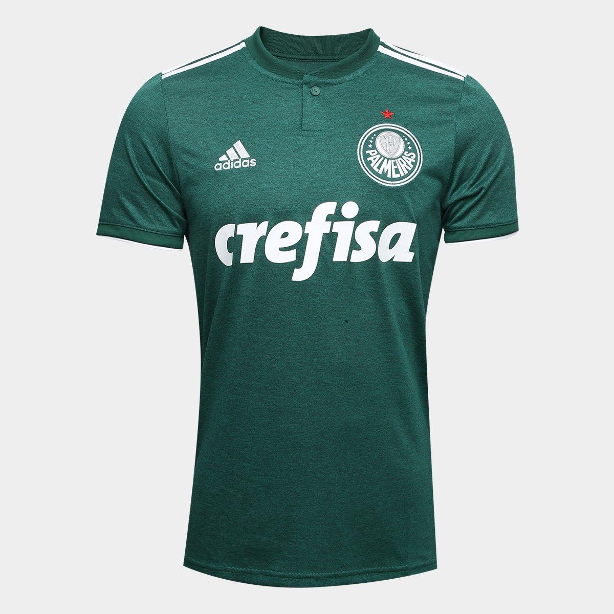 Camisa Palmeiras I 2018 s n° Torcedor Adidas Masculina - Verde e ... 275bd96525fe3