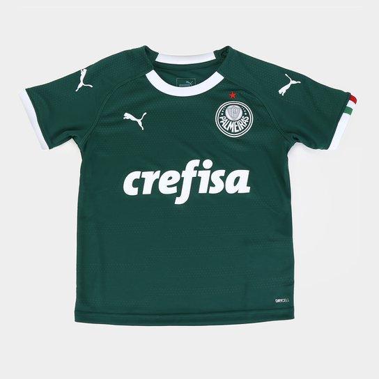 Camisa Palmeiras I Infantil 19/20 s/n° - Torcedor Puma - Verde