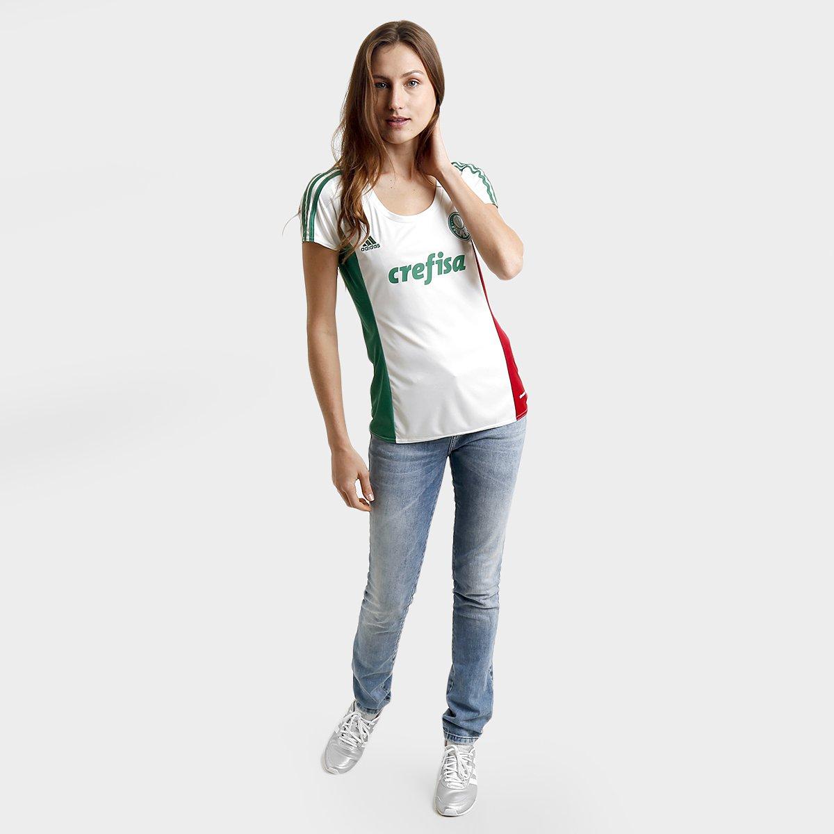 ac21ba8e8c Camisa Palmeiras II 15 16 s nº Torcedor Adidas Feminina - Compre ...