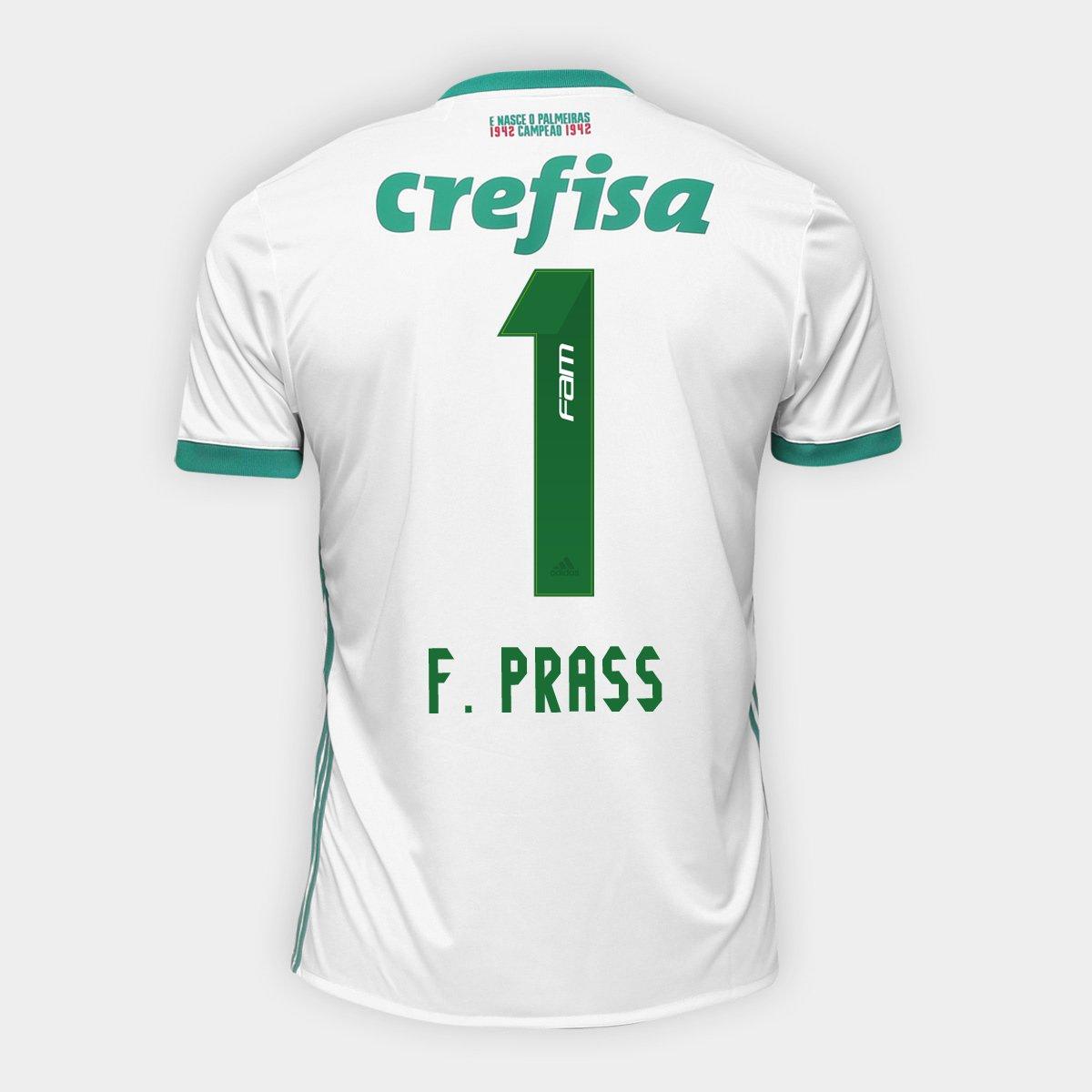 Camisa Palmeiras II 17 18 nº 1 - F. Prass Torcedor Adidas Masculina - Compre  Agora  ab2c09a06d84a