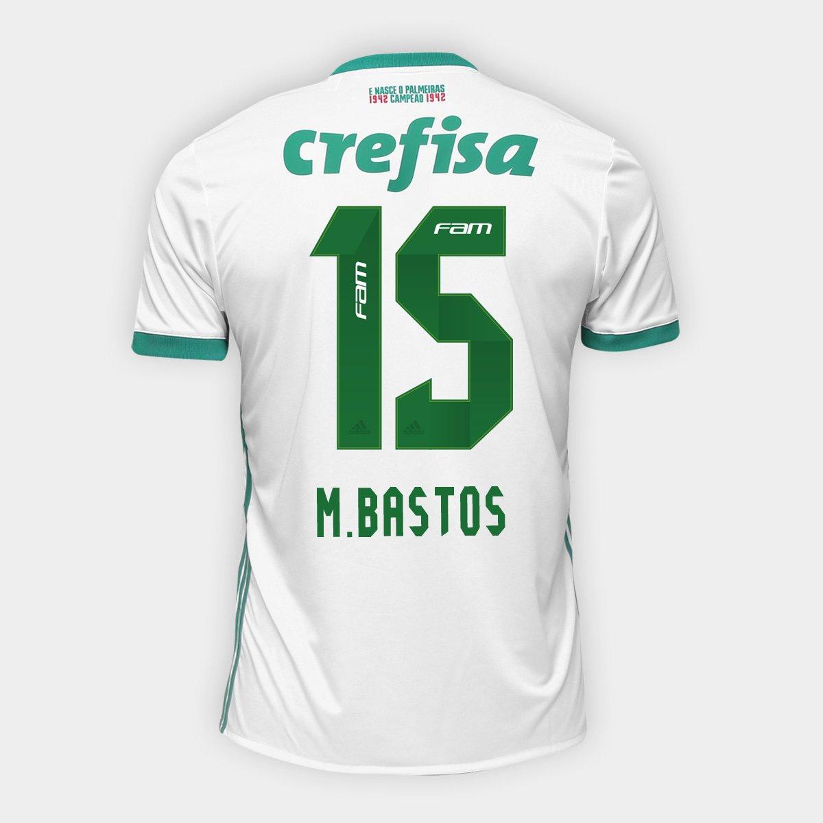 Camisa Palmeiras II 17 18 nº 15 - M. Bastos Torcedor Adidas Masculina - Compre  Agora  488c3fc1dd3be