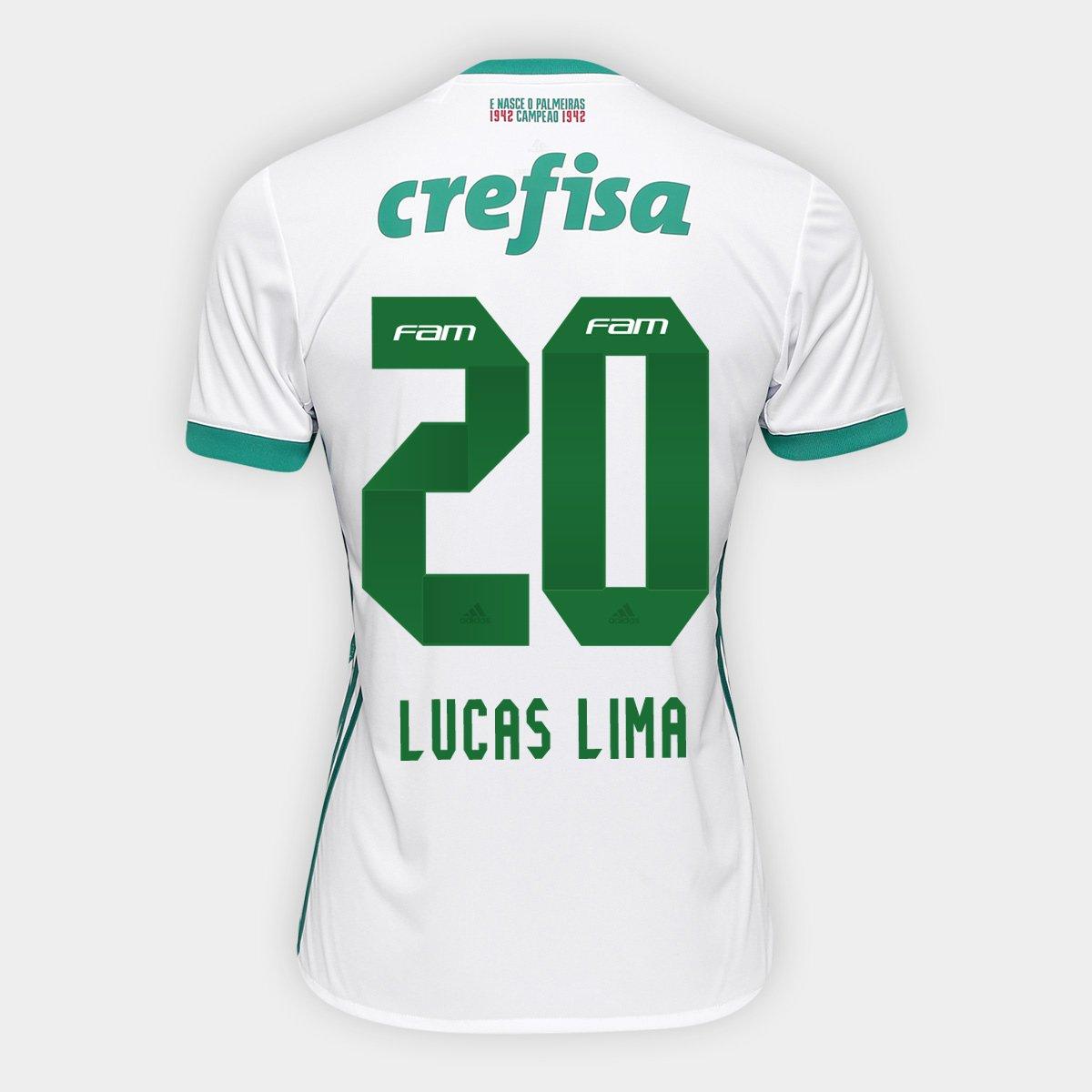 Camisa Palmeiras II 17 18 nº 20 - Lucas Lima Adidas Masculina - Compre Agora   9d0cda98bf9a0