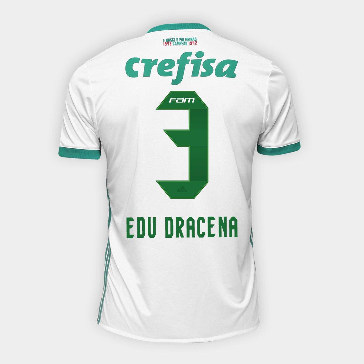 Camisa Palmeiras II 17 18 nº 3 Edu Dracena Torcedor Adidas Masculina - Compre  Agora  b62a32d357905