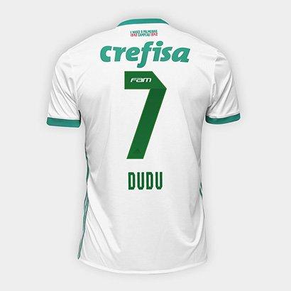 A Camisa Palmeiras II 17 18 nº 7 Dudu Torcedor Adidas Masculina veste o  atacante 4763de05a02ef