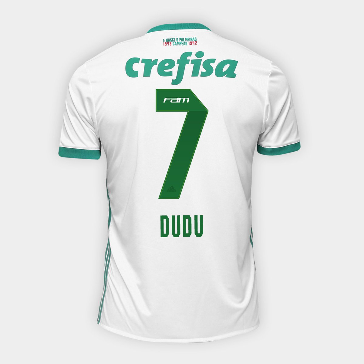 6ed38af74 Camisa Palmeiras II 17/18 nº 7 Dudu Torcedor Adidas Masculina | Netshoes