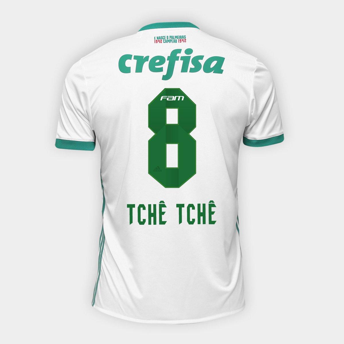 ccd96c062 Camisa Palmeiras II 17/18 nº 8 Tchê Tchê Torcedor Adidas Masculina |  Netshoes