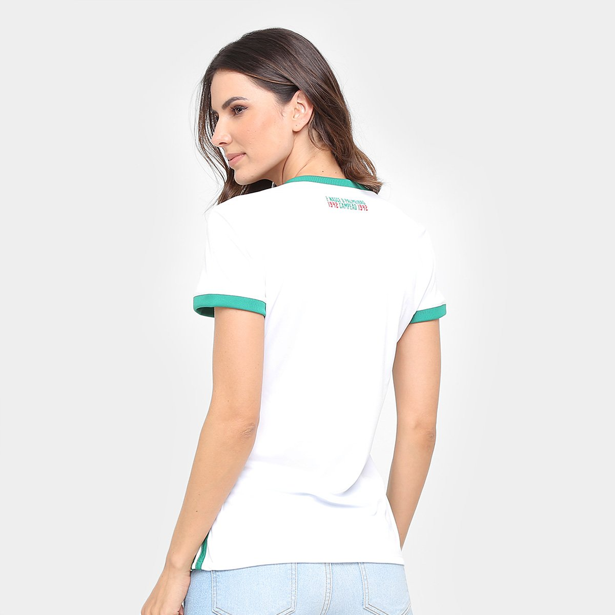 18 s Branco 17 Torcedor Camisa Feminina Adidas nº Palmeiras II qvzIt