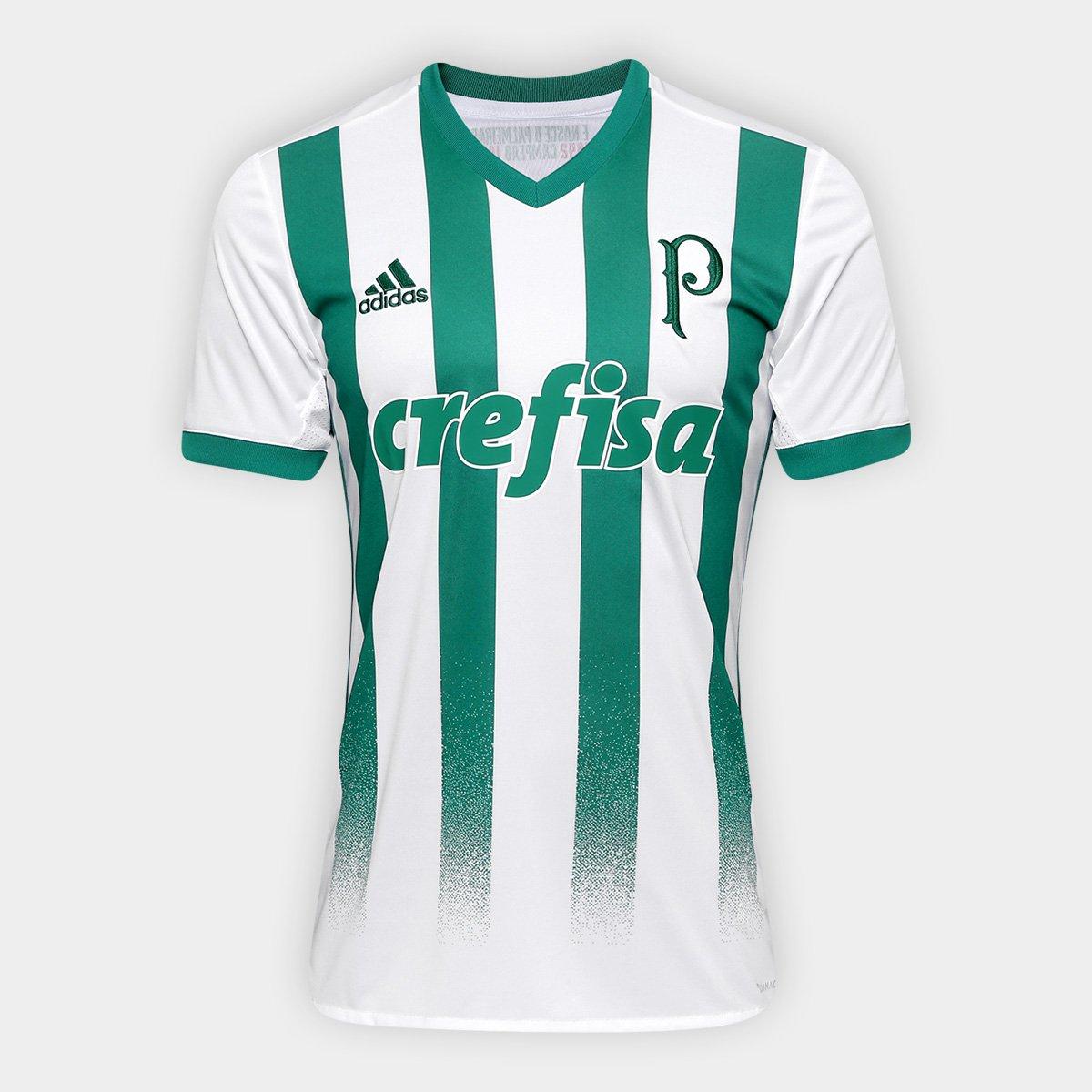 265205fddd5f9 Camisa Palmeiras II 17 18 s nº Torcedor Adidas Masculina - Branco e Verde -  Compre Agora