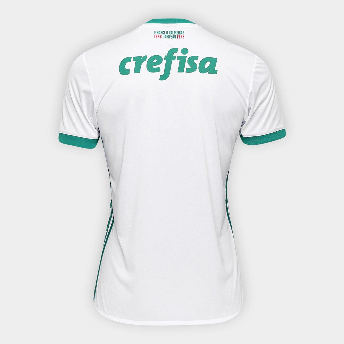 Camisa Palmeiras II 17 18 s nº Torcedor Adidas Masculina - Branco e ... 88c0a67ccff71