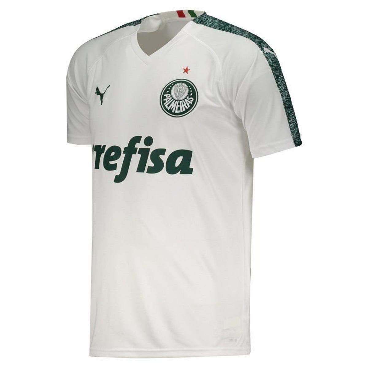 Camisa Palmeiras II 19 20 s n° - Torcedor Puma Masculina - Branco ... 45b57665f2e90