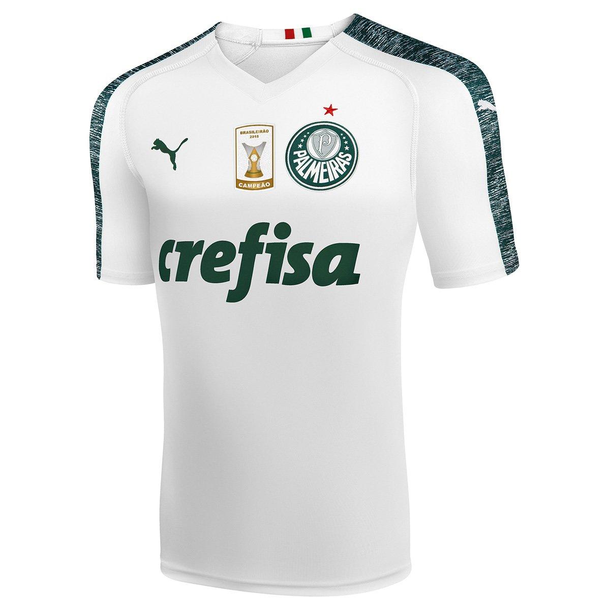 e049d319fa83e Camisa Palmeiras II 19 20 s n° - Torcedor Puma Patch Campeão Brasileiro  Masculina - Branco - Compre Agora