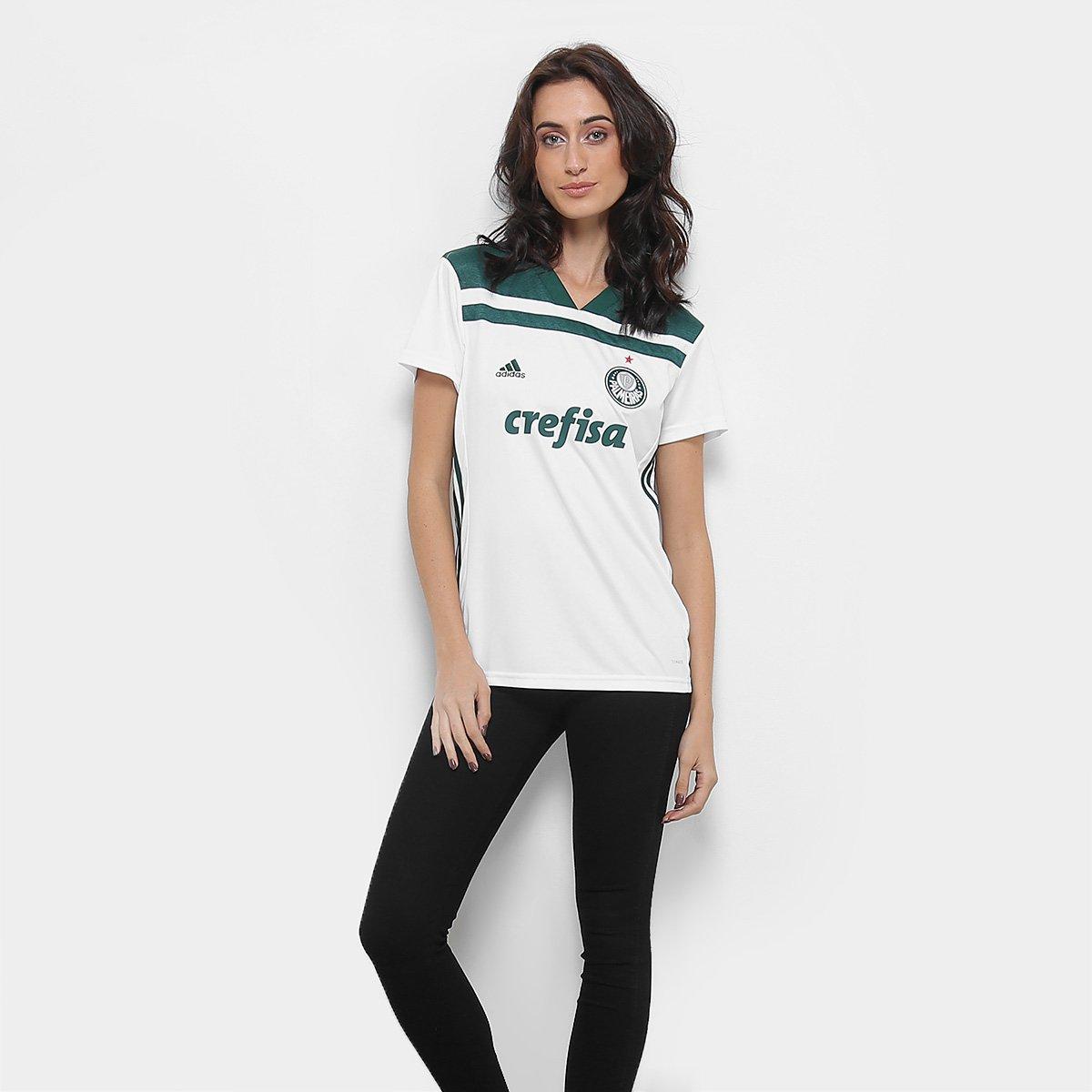 Adidas Torcedor 2018 Verde Palmeiras Branco Feminina n° II Camisa e s YwfT1CYq