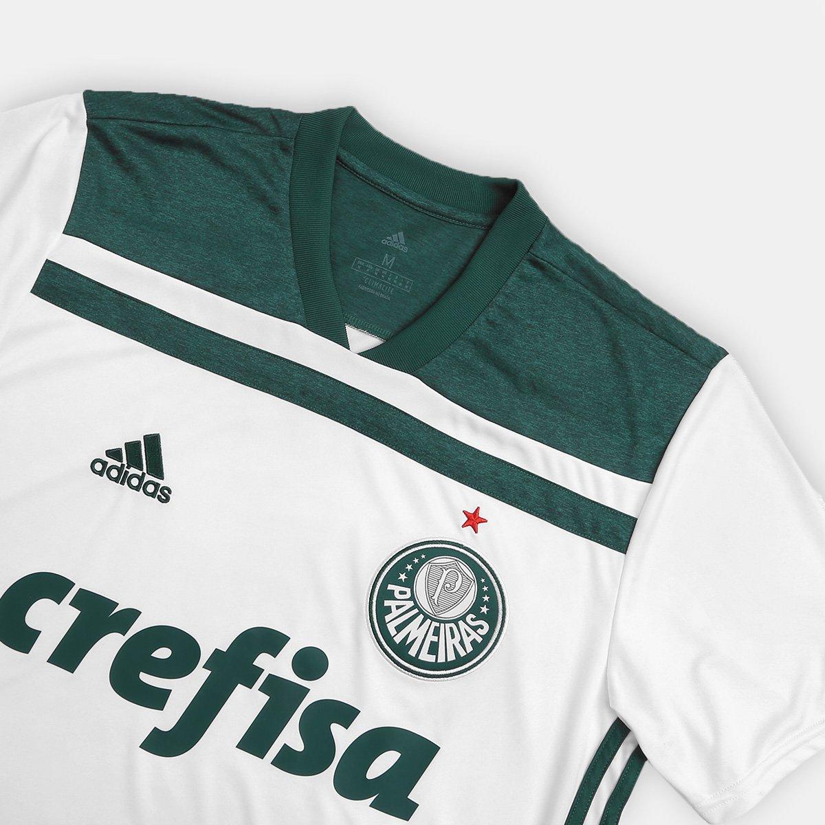 Camisa Palmeiras II 2018 s n° Torcedor Adidas Masculina - Branco e ... 82da9c1d0441e