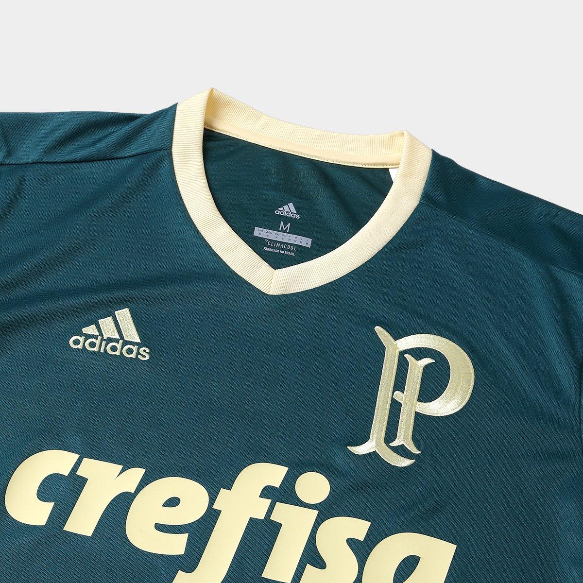 d08abdc482 Camisa Palmeiras III 17 18 s nº Torcedor Adidas Masculina - Verde ...