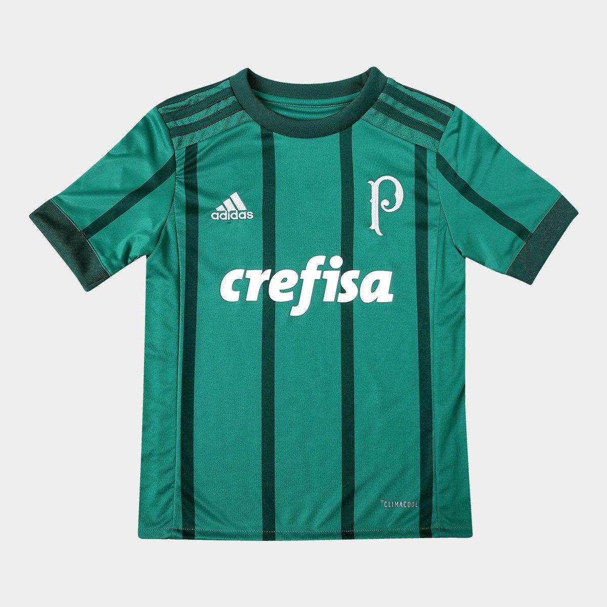 Camisa Palmeiras Infantil I 17 18 s nº Torcedor Adidas - Verde ... a135664049c0d