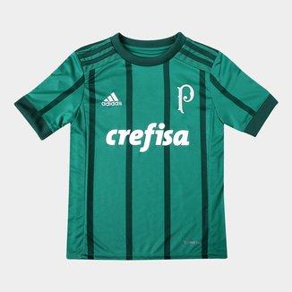 Camisa Palmeiras Infantil I 17/18 s/nº Torcedor Adidas