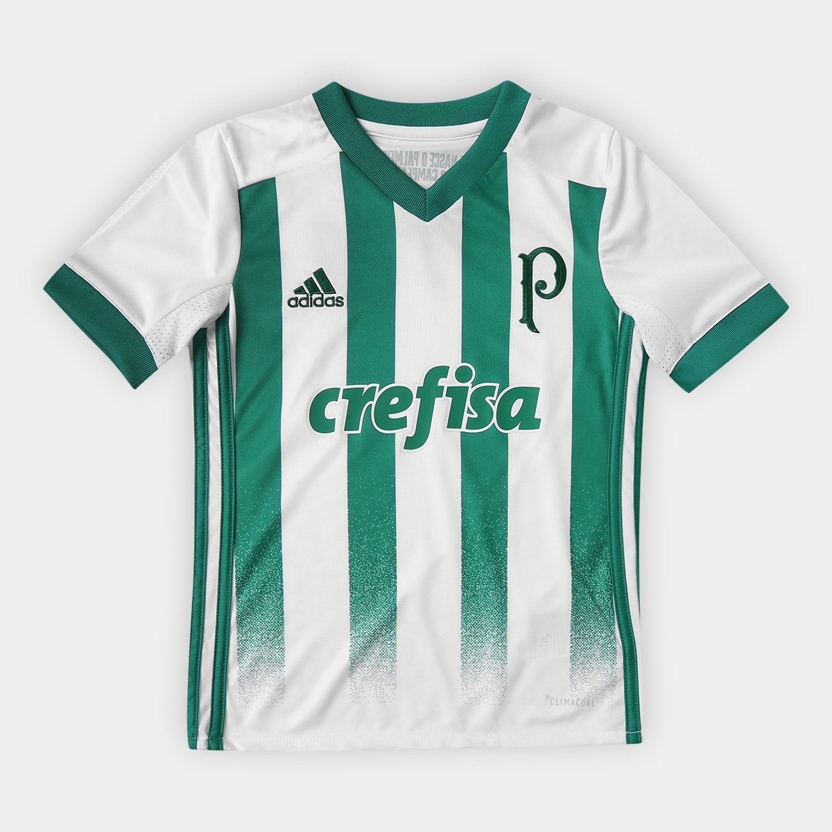00dbee2d3c829 Camisa Palmeiras Infantil II 17 18 Torcedor Adidas