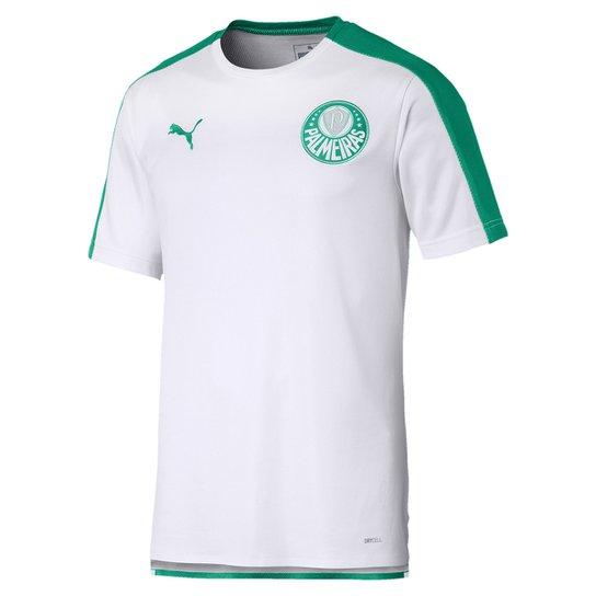 Camisa Palmeiras Pré Jogo 19/20 Puma Masculina - Branco+Verde