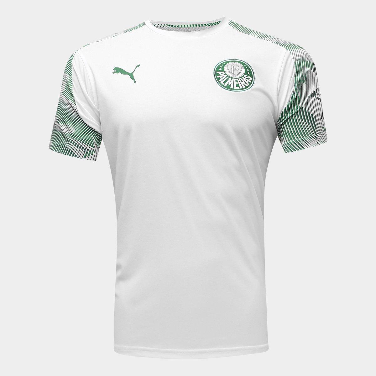 ligeramente Manual Lo siento  Camisa Palmeiras Treino 20/21 Puma Masculina - Branco e Verde | Netshoes