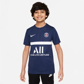 Camisa Paris Sain-Germain Juvenil Treino 21/22 Nike