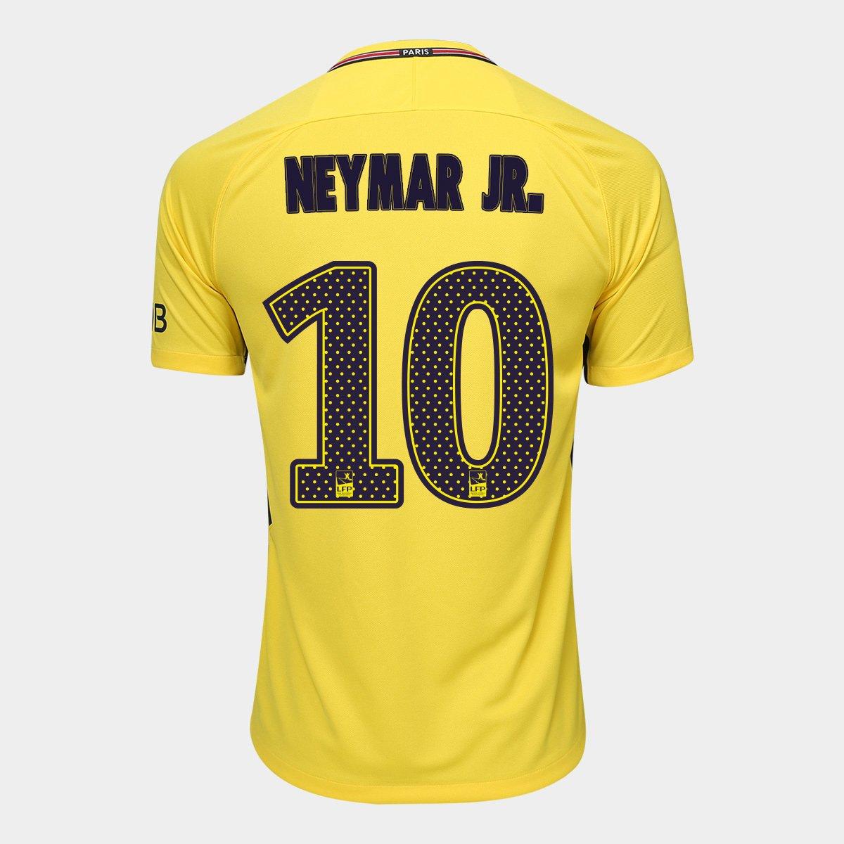 de8e6e91e Camisa Paris Saint Germain Away 17 18 nº 10 Neymar Jr Torcedor Nike  Masculina - Compre Agora