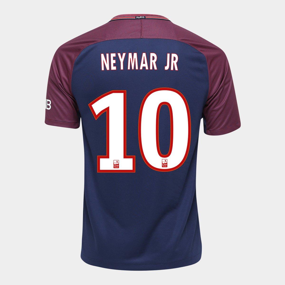 806cd6f753 Camisa Barcelona Home 17 18 Nº 10 Messi Torcedor Nike Masculina ...