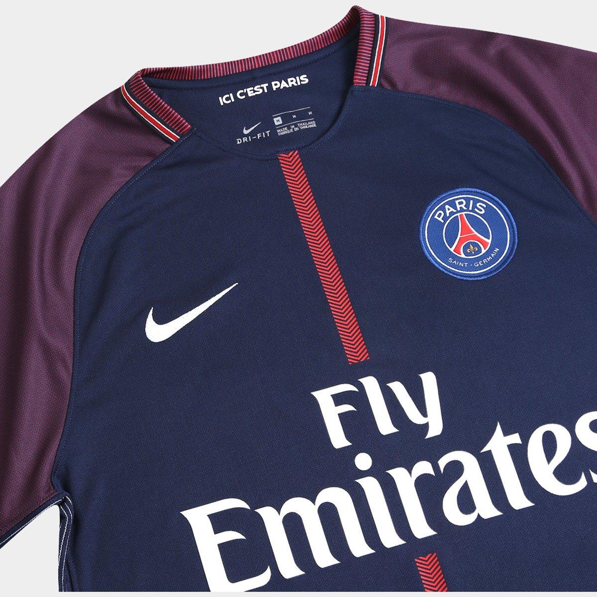 ... Camisa Paris Saint Germain Home 17 18 n° 10 Neymar Jr Torcedor Nike  Masculina 991aacfca2100