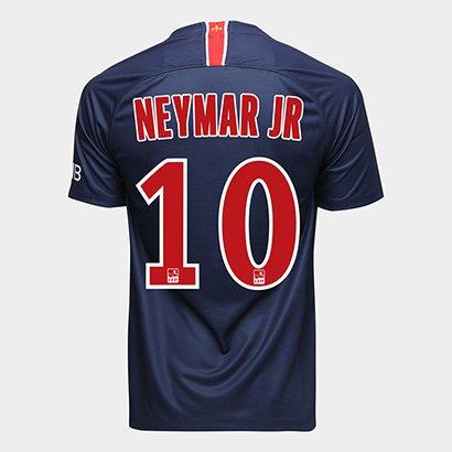 Camisa Paris Saint-Germain Home 18 19 Nº 10 Neymar Jr Torcedor Nike  Masculina d03b4ba2338a6