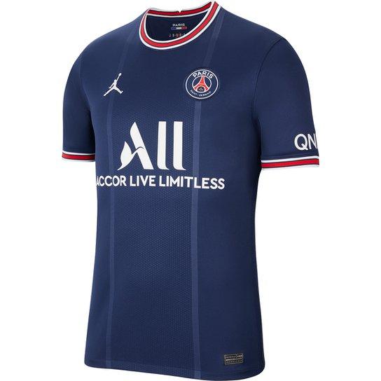 Camisa Paris Saint-Germain Home 21/22 s/n° Torcedor Nike Masculina - Marinho+Vermelho