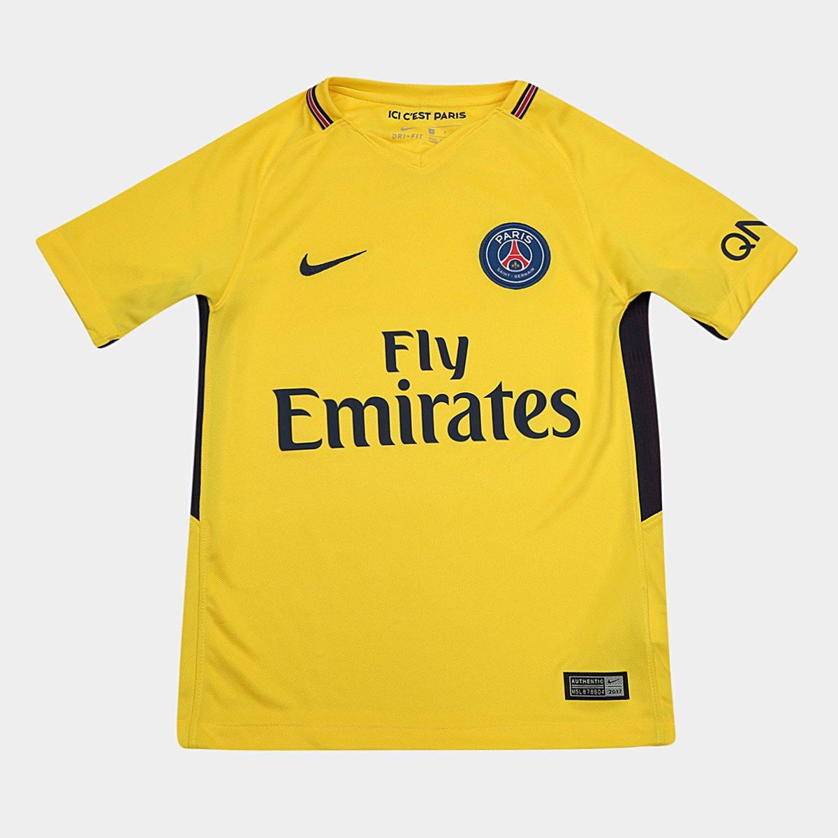 cf85a76dfb Camisa Paris Saint-Germain Infantil Away 17 18 s n° - Torcedor Nike -  Compre Agora