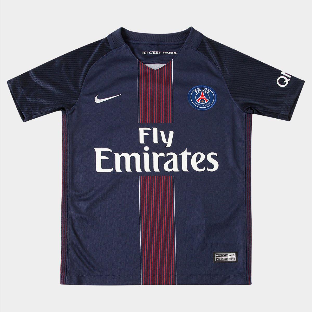 edd52415e3 Camisa Paris Saint Germain Infantil Home 16 17 s nº Torcedor Nike - Compre  Agora