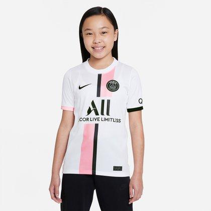 Camisa Paris Saint-Germain Juvenil Away 21/22 s/n° Torcedor Nike