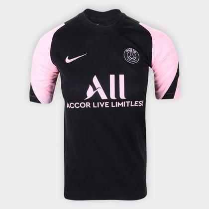 Camisa Paris Saint-Germain Juvenil Away 21/22 s/nº Torcedor Nike