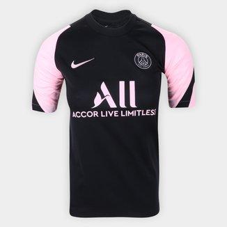 Camisa Paris Saint-Germain Juvenil Treino 21/22 s/nº Torcedor Nike