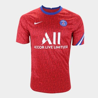 Camisa Paris Saint-Germain Pré-Jogo 20/21 Nike Masculina