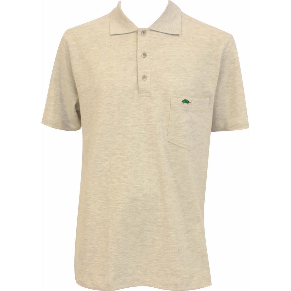 Pau a Camisa Cinza Polo Pique Pau Camisa n0FEwqx771