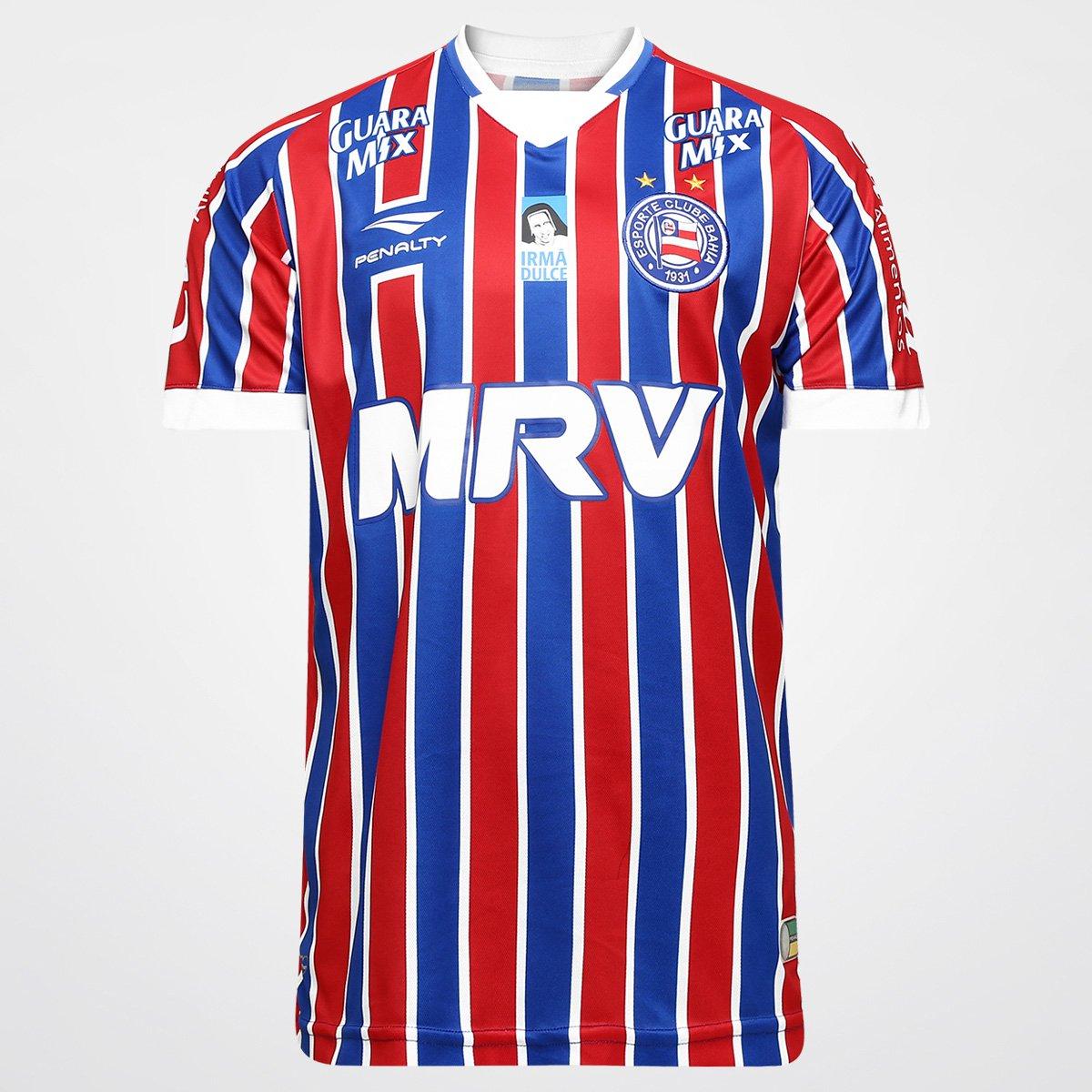 Camisa Penalty Bahia II 2016 s nº - Compre Agora  f978de90a4f4a
