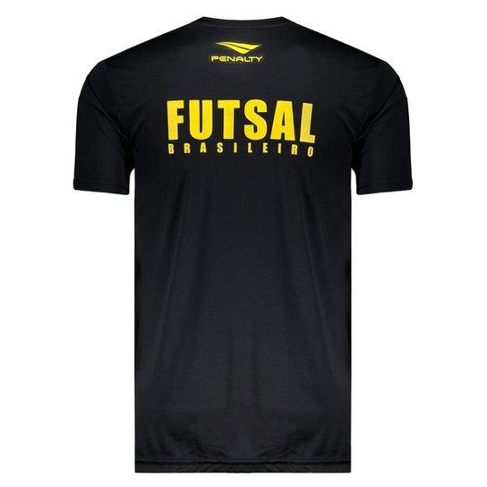 Camisa Penalty Brasil CBFS Futsal 2019 Aquecimento Masculina - Preto