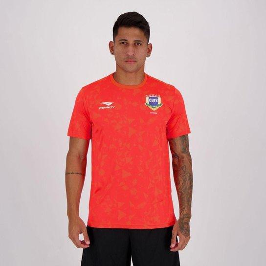 Camisa Penalty CBFS Futsal Aquecimento Masculina - Laranja