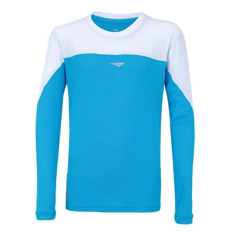 Branco e Turquesa Rep Azul Penalty Ação Camisa Solar Feminina Proteção fw6zS