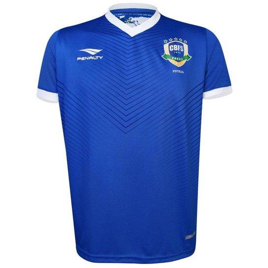 Camisa Penalty Masculina CBFS OF 2 X - Azul+Branco