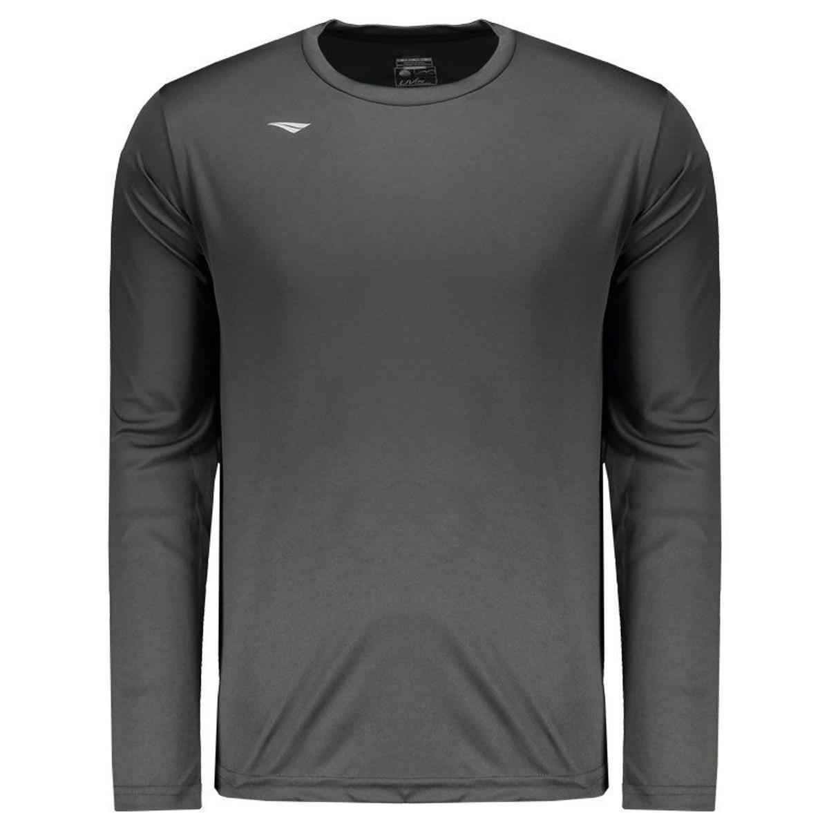 590bd2bcf886b Camisa Penalty Matis IX Manga Longa Masculina - Cinza - Compre Agora ...